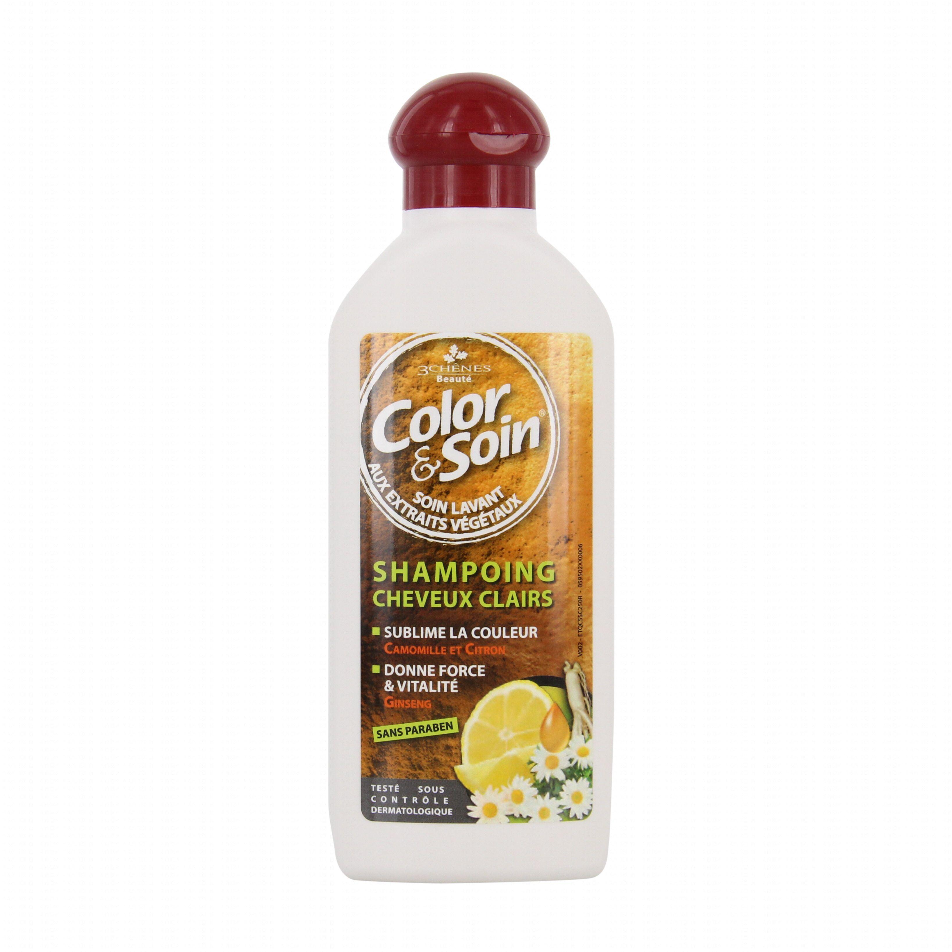 3 chnes color et soin shampooing cheveux clair flacon 250ml - Les 3 Chenes Coloration