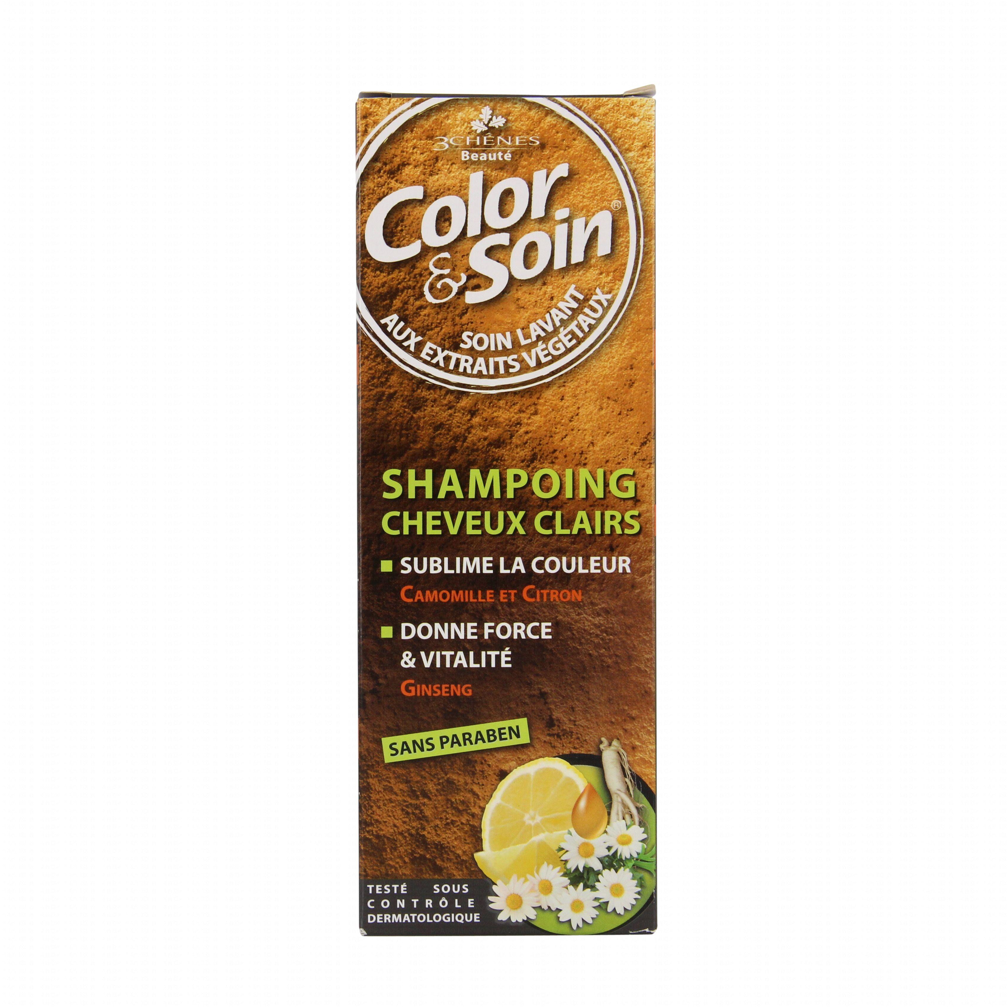3 chnes color et soin shampooing cheveux clair flacon 250ml illustration n2 - Les 3 Chenes Coloration
