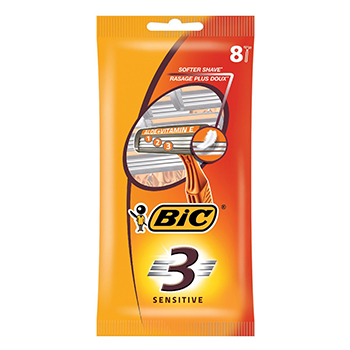 BIC 3 Sensitive rasoirs 3 lames - Illustration n°1