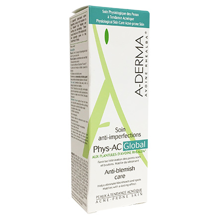 A-DERMA Phys-AC Global soin anti-imperfections tube 40ml - Illustration n°2