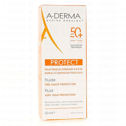 A-DERMA Protect fluide très haute protection SPF50+ - Illustration n°1