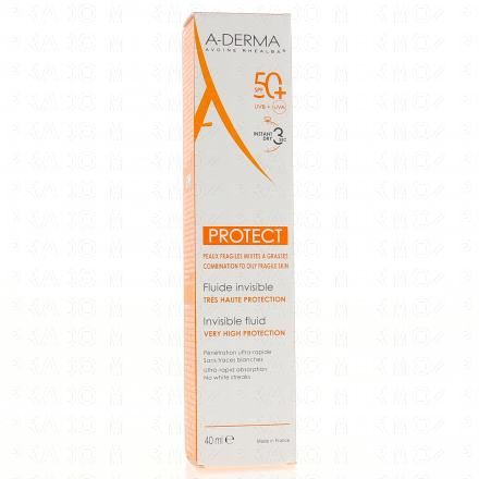 A-DERMA PROTECT Fluide invisible très haute protection SFP 50+ tube 40ml - Illustration n°1