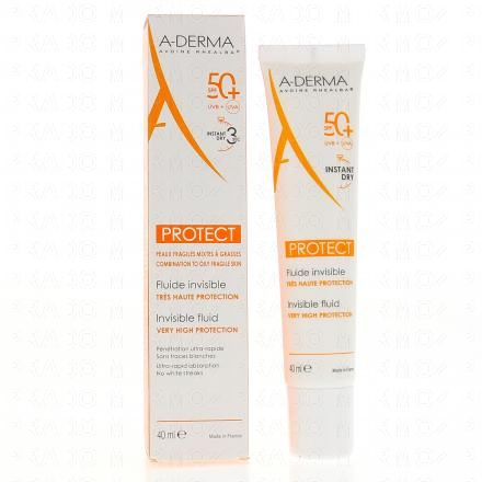 A-DERMA PROTECT Fluide invisible très haute protection SFP 50+ tube 40ml - Illustration n°3