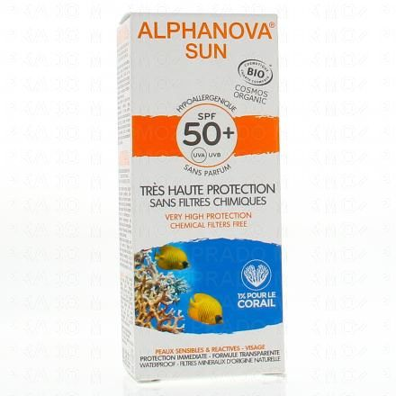 ALPHANOVA SUN très haute protection SPF50+ peaux sensibles tube 50g - Illustration n°1