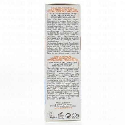 ALPHANOVA SUN très haute protection SPF50+ peaux sensibles tube 50g - Illustration n°3