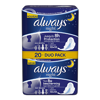 ALWAYS Ultra night duo pack