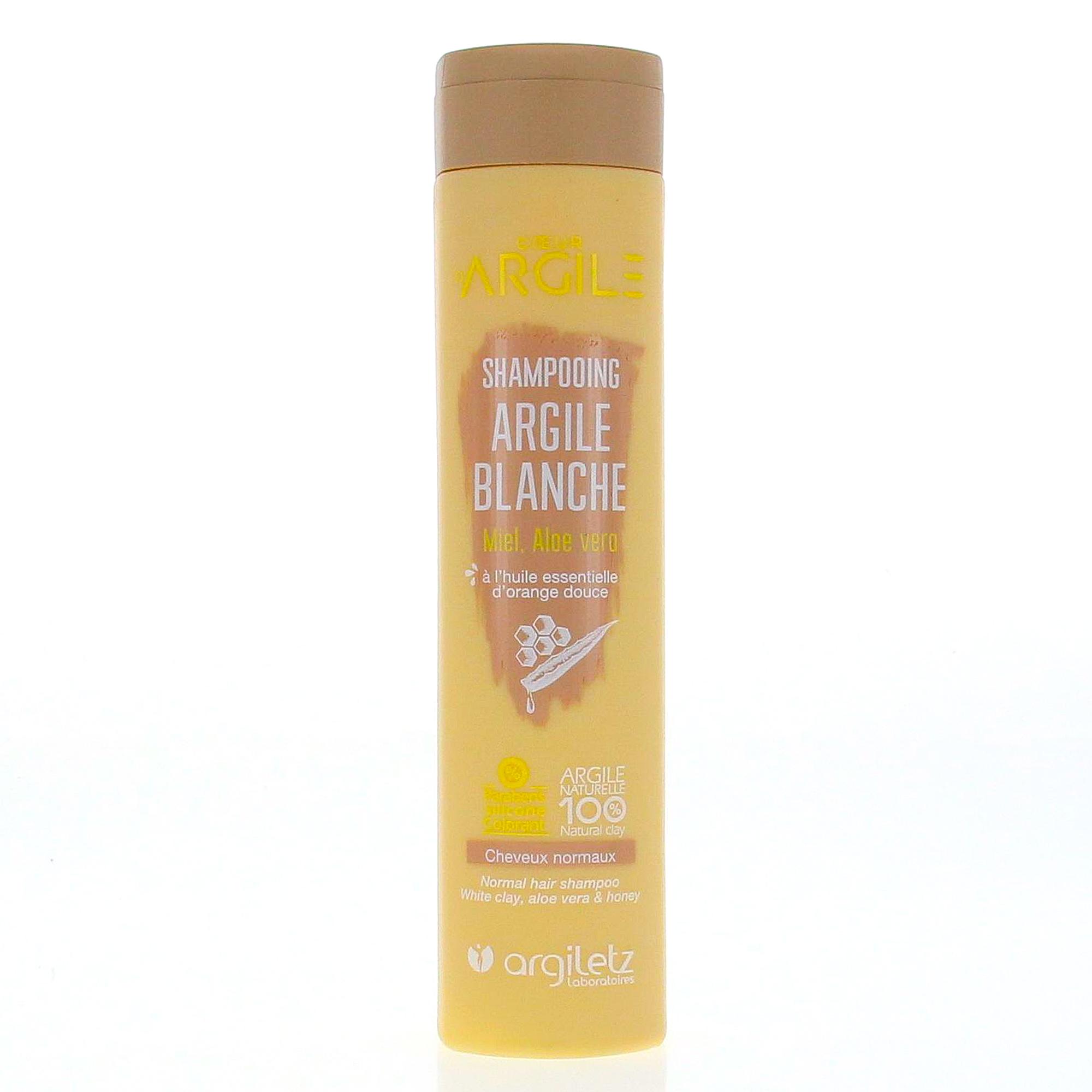 ARGILETZ Coeur d'Argile shampooing argile blanche flacon 200ml