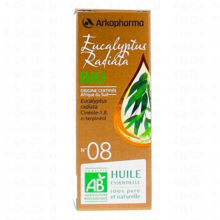 ARKOPHARMA Huile essentielle d'Eucalyptus radiata N°08 Bio flacon 10ml - Illustration n°1