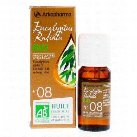 ARKOPHARMA Huile essentielle d'Eucalyptus radiata N°08 Bio flacon 10ml - Illustration n°2