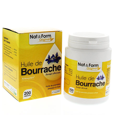 NAT & FORM Huile de Bourrache 200 capsules - Illustration n°2