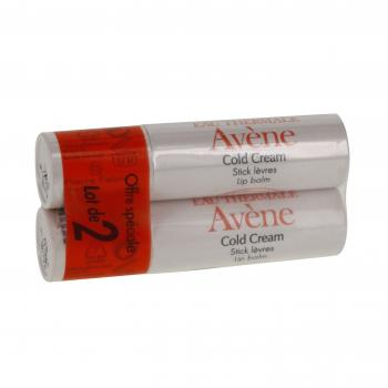AVÈNE Cold cream stick lèvres lot de 2 sticks de 4g