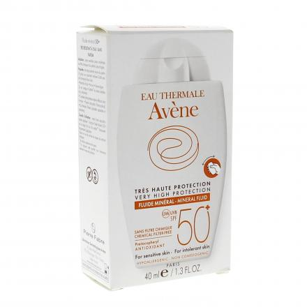 AVENE Fluide minéral SPF50+ flacon 40ml - Illustration n°1