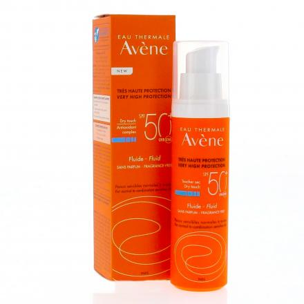 AVENE Fluide sans parfum SPF50+ flacon pompe 50ml - Illustration n°4