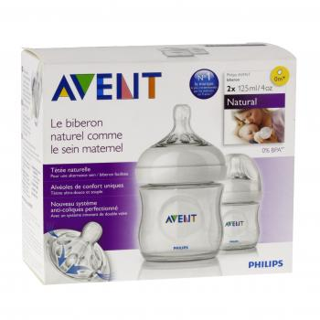 AVENT Natural biberon lot de 2 x 125ml - Illustration n°1