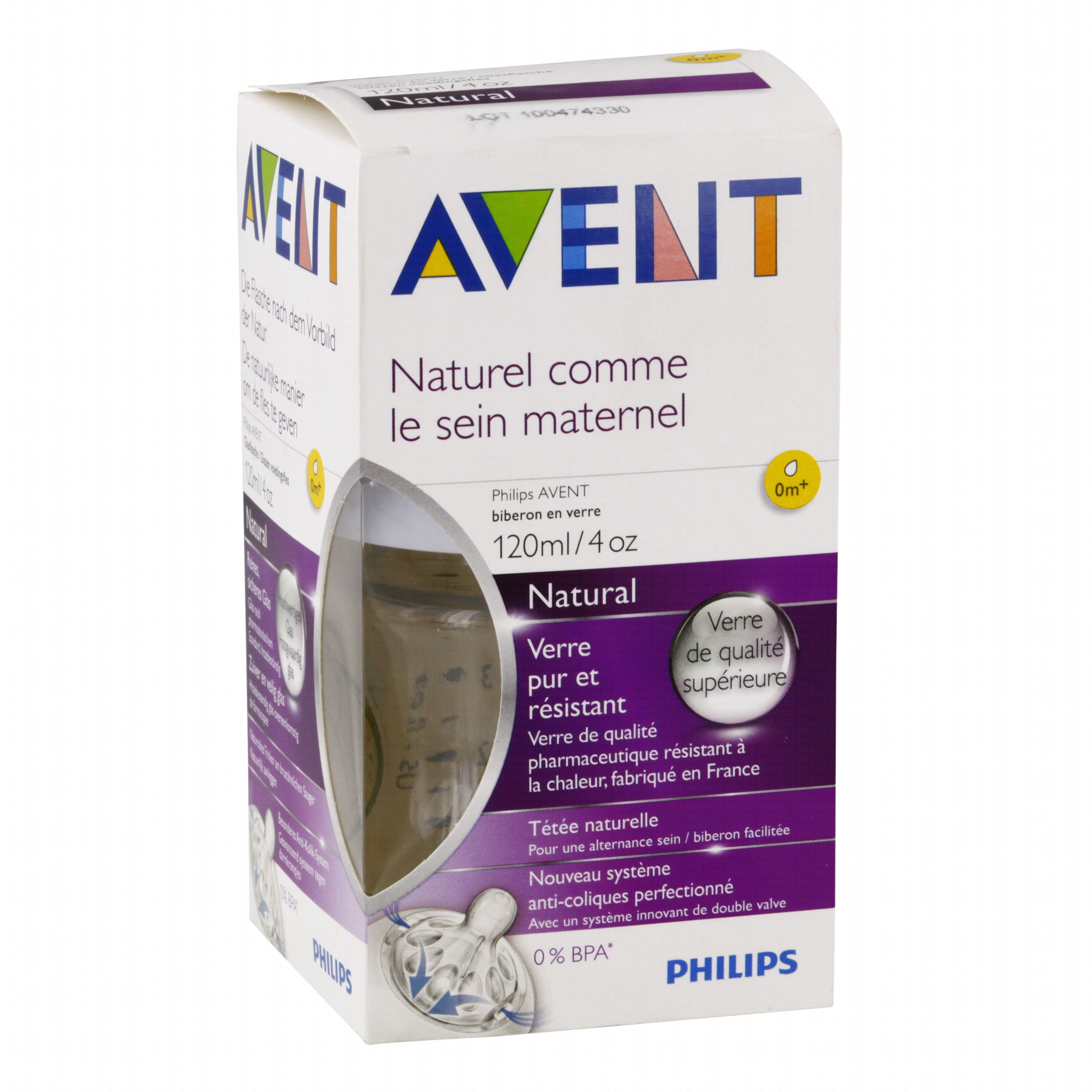 avent biberon natural en verre 120ml parapharmacie en. Black Bedroom Furniture Sets. Home Design Ideas
