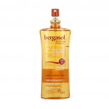 BERGASOL Bronzage passion huile sèche corps SPF20 spray 125ml - Illustration n°2