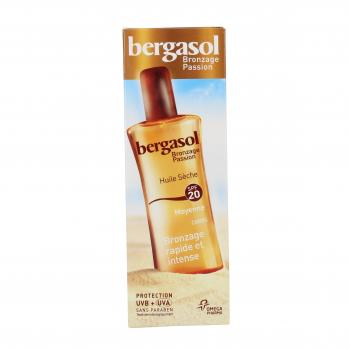 BERGASOL Bronzage passion huile sèche corps SPF20 spray 125ml - Illustration n°3