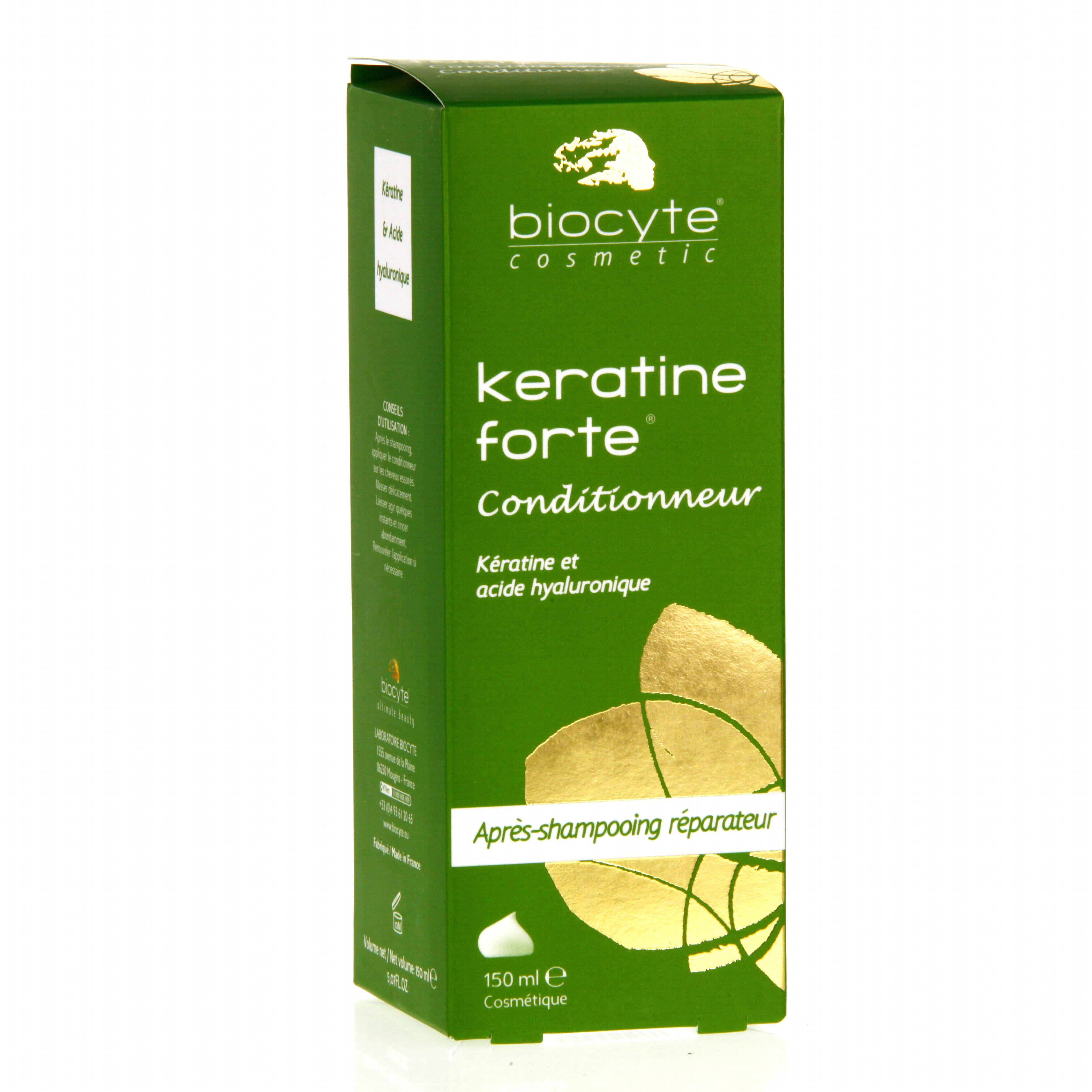 biocyte keratine forte conditionneur flacon 150ml parapharmacie en ligne prado mermoz. Black Bedroom Furniture Sets. Home Design Ideas