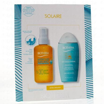 BIOTHERM Coffret solaire waterlover sun mist SPF30 brume solaire 200ml + lait oligo-thermal sun after flacon 200ml - Illustration n°1