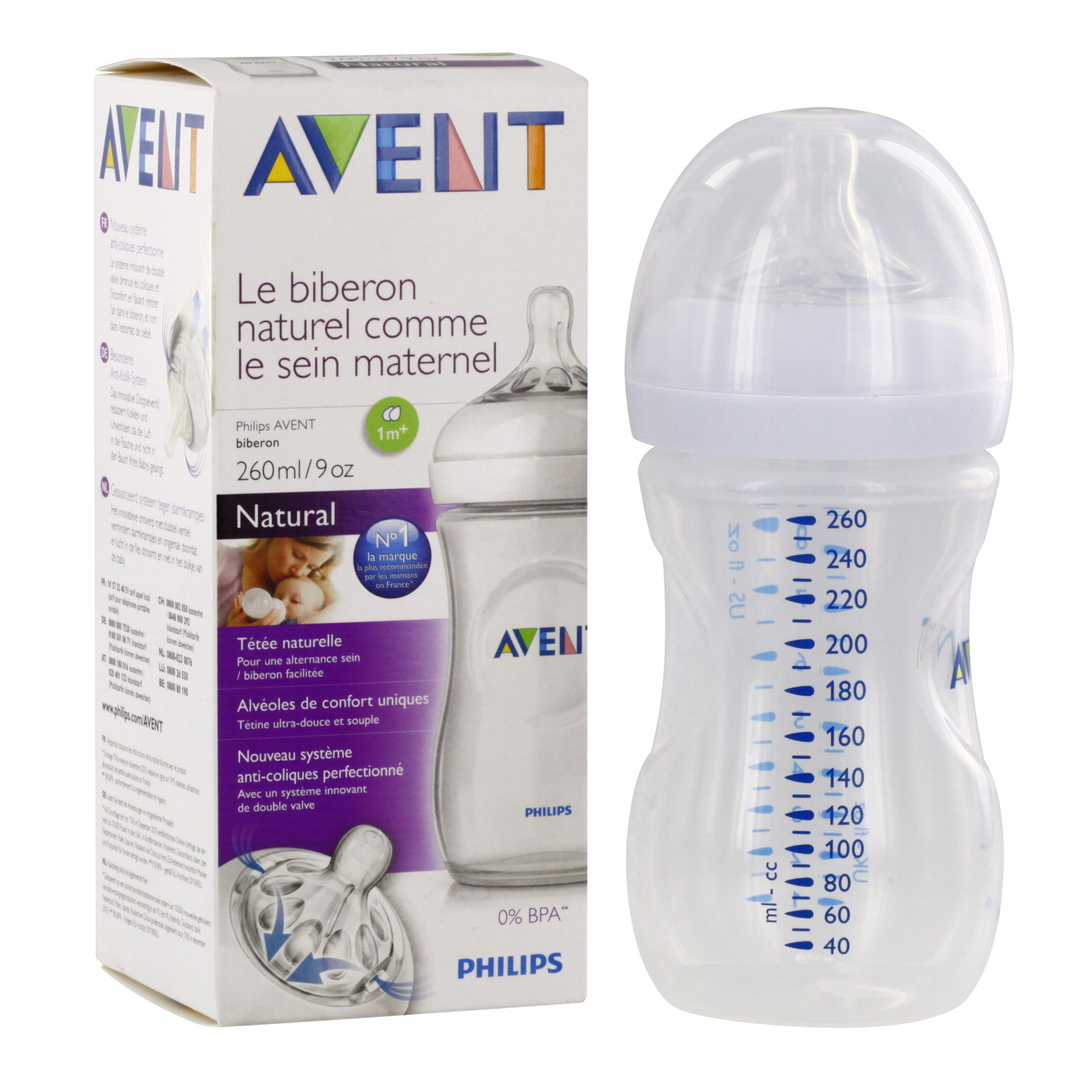 biberon avent natural 260 ml