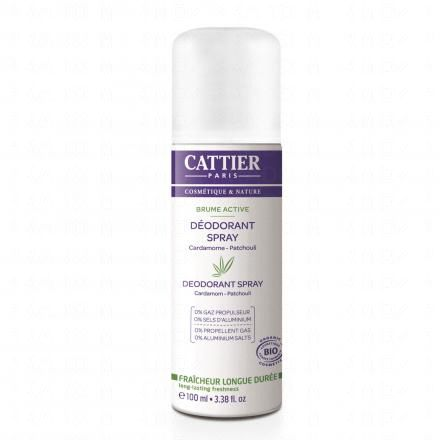 CATTIER Brume Active déodorant spray bio
