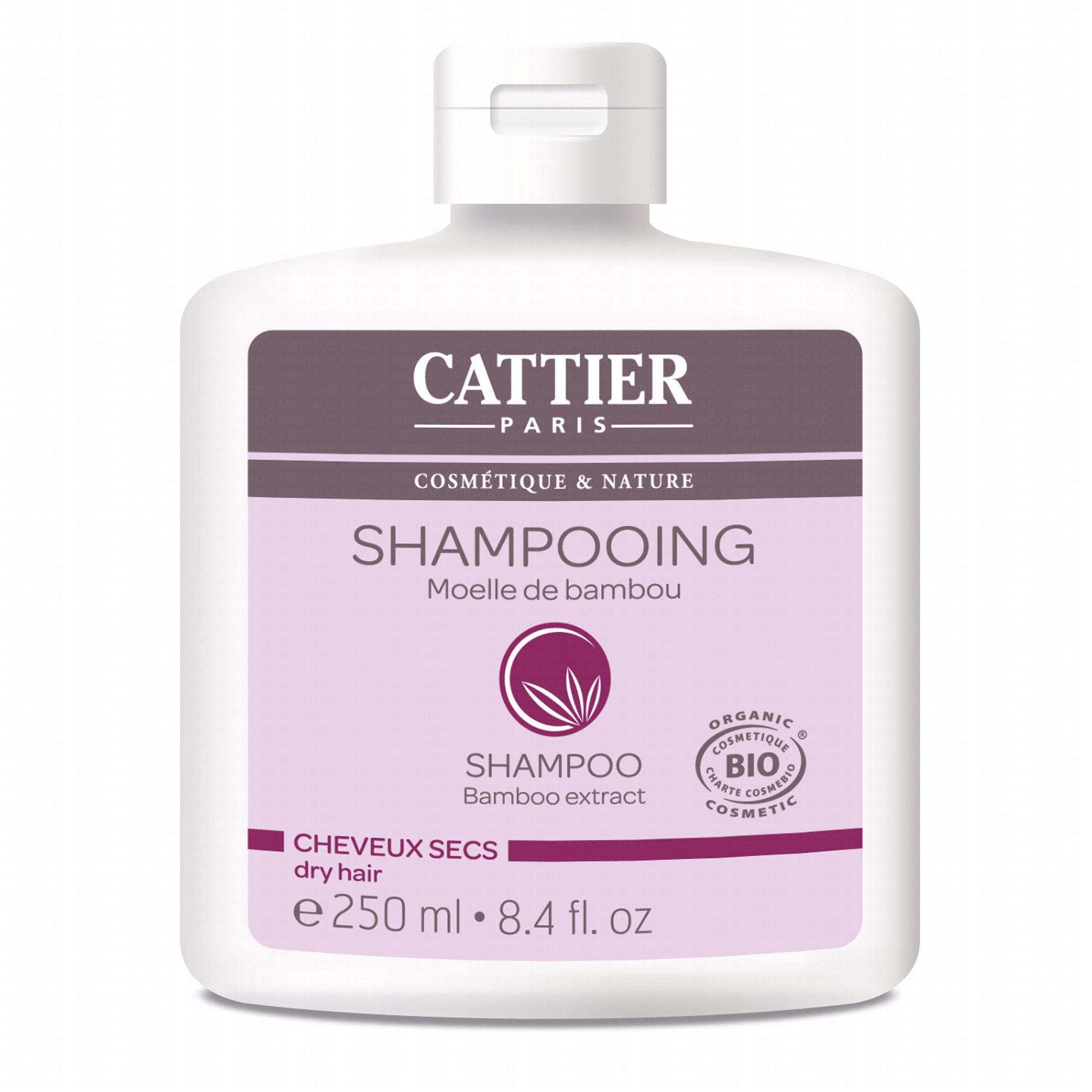 cattier shampooing bio moelle de bambou cheveux secs - Shampoing Bio Cheveux Colors