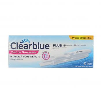 CLEARBLUE Plus  test de grossesse (lot de 2)