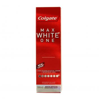 COLGATE Max white one menthe sensation tube 75ml - Illustration n°1