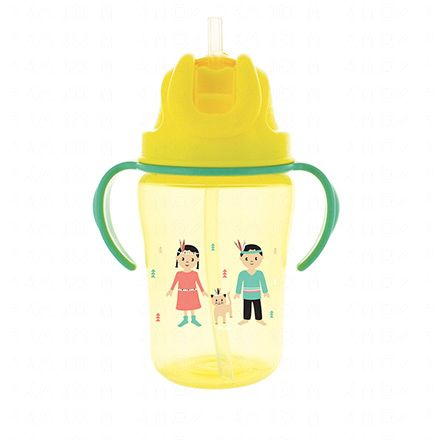 DODIE Tasse paille jaune 350ml 18m+ - Illustration n°1