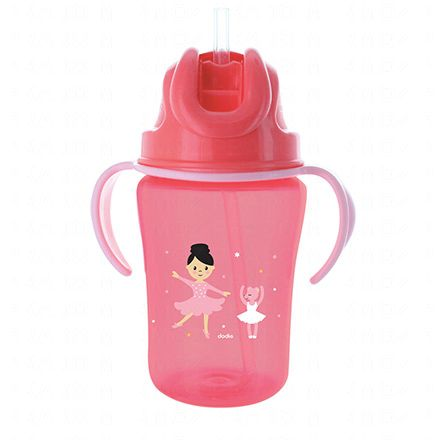 DODIE Tasse paille rose 350ml 18m+ - Illustration n°1
