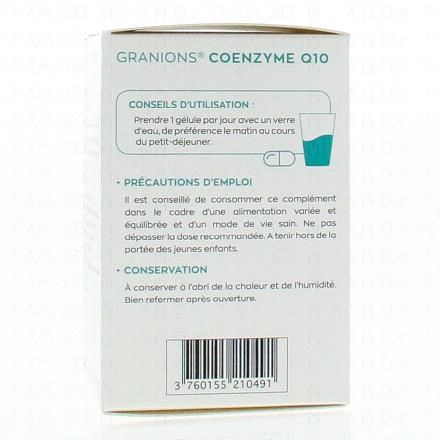 EA PHARMA Granions coenzyme q10 - Illustration n°3