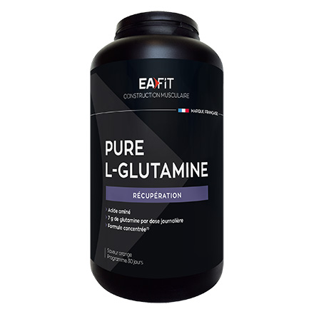 EAFIT Pure L-Glutamine Acide Aminé pot 243g