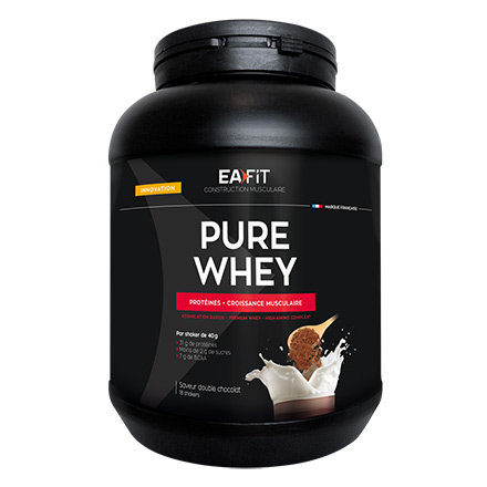 EAFIT Pure whey double chocolat pot de 750gr