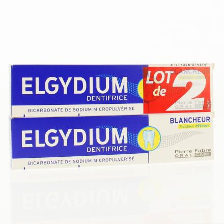 ELGYDIUM Lot de 2 dentifrices blancheur tube 75ml x 2 - Illustration n°1