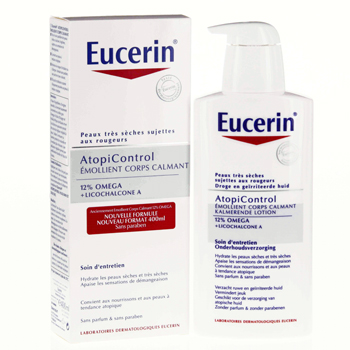 EUCERIN AtopiControl Emollient Corps Calmant  flacon 400ml - Illustration n°1
