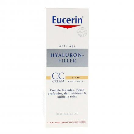 EUCERIN Hyaluron-filler CC crème light beige-doré SPF 15 tube 50ml - Illustration n°1