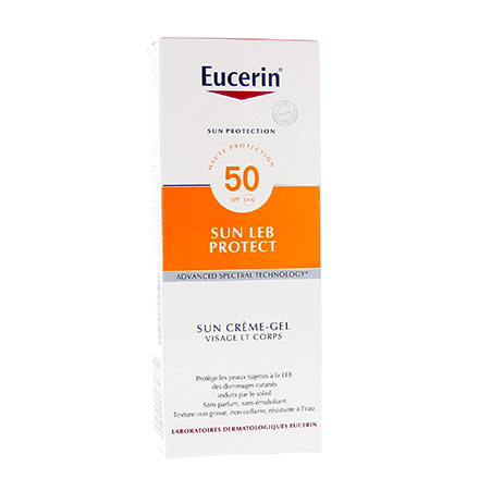 EUCERIN Sun LEB Protect SPF50 crème gel tube 150ml - Illustration n°1