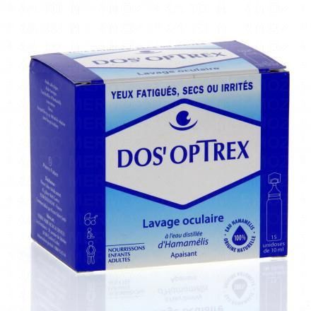 DOS'OPTREX Lavage occulaire 15 unidoses de 10ml - Illustration n°1