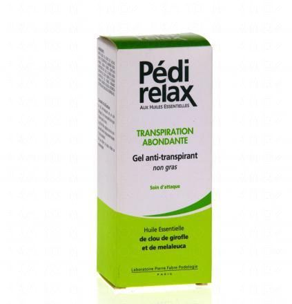 PEDIRELAX Gel antitranspirant transpiration abondante