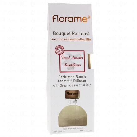 FLORAME Bouquet parfumé fleur d'amandier bio flacon 80ml  - Illustration n°1