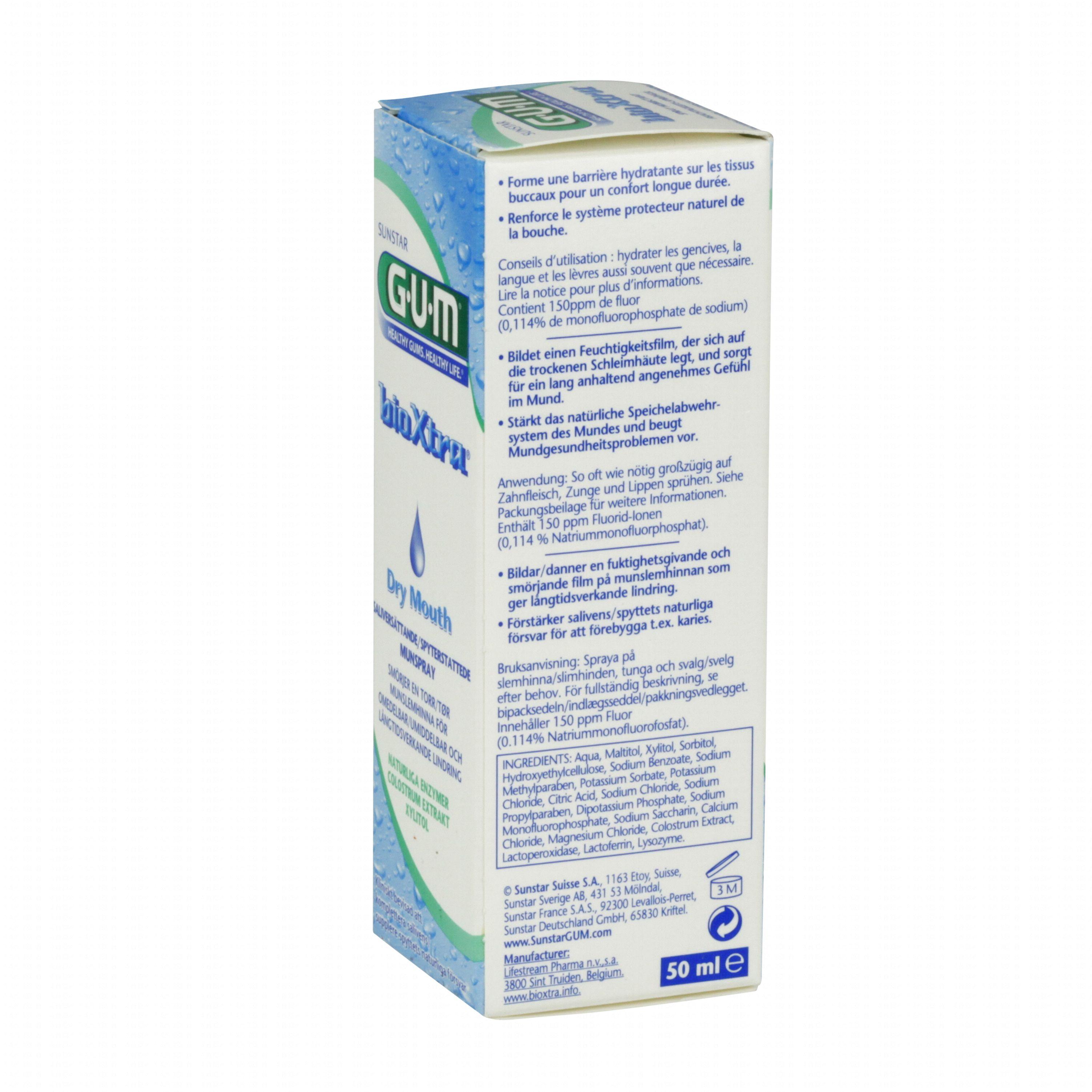 Spray hydratant pour la bouche