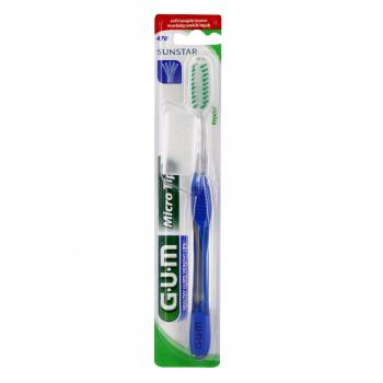 GUM n°470 Brosse à dents microtip souple  - Illustration n°1