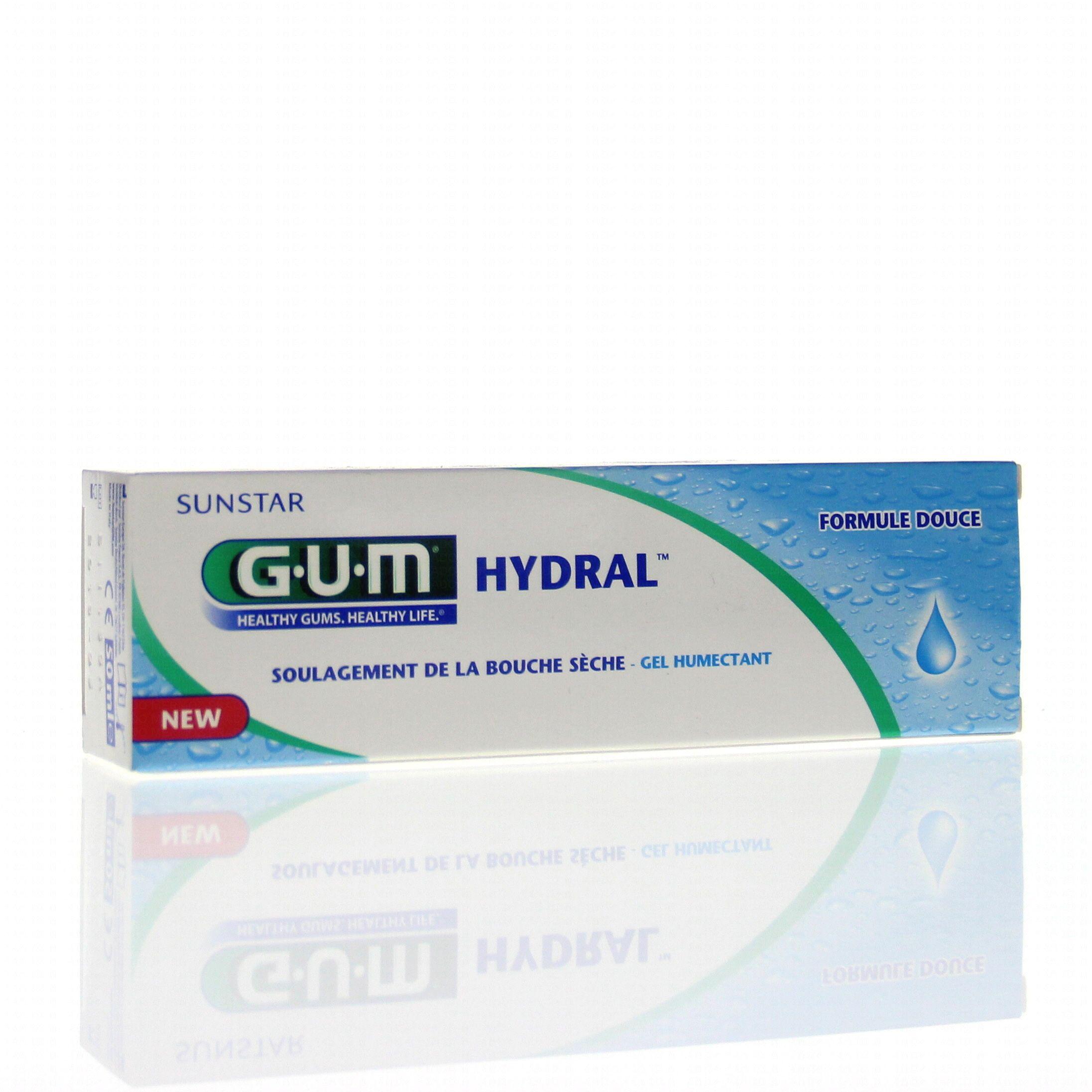 GUM HYDRAL Gel humectant bouche sèche tube 50ml
