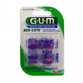 GUM Red cote révelateurs de plaque 12 comprimés - Illustration n°1