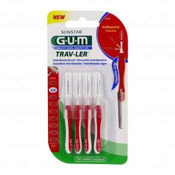GUM Travler brossettes interdentaires n°1314 - 0,8mm x 4