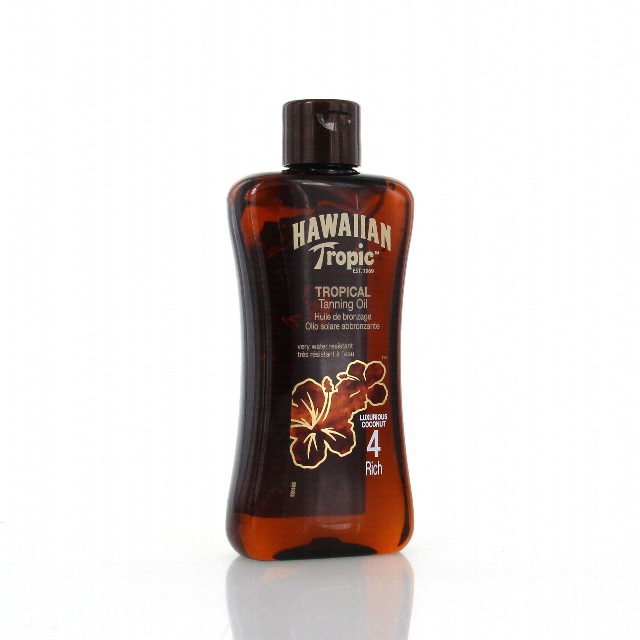 hawaiian tropic huile de bronzage spf4 flacon 200ml. Black Bedroom Furniture Sets. Home Design Ideas