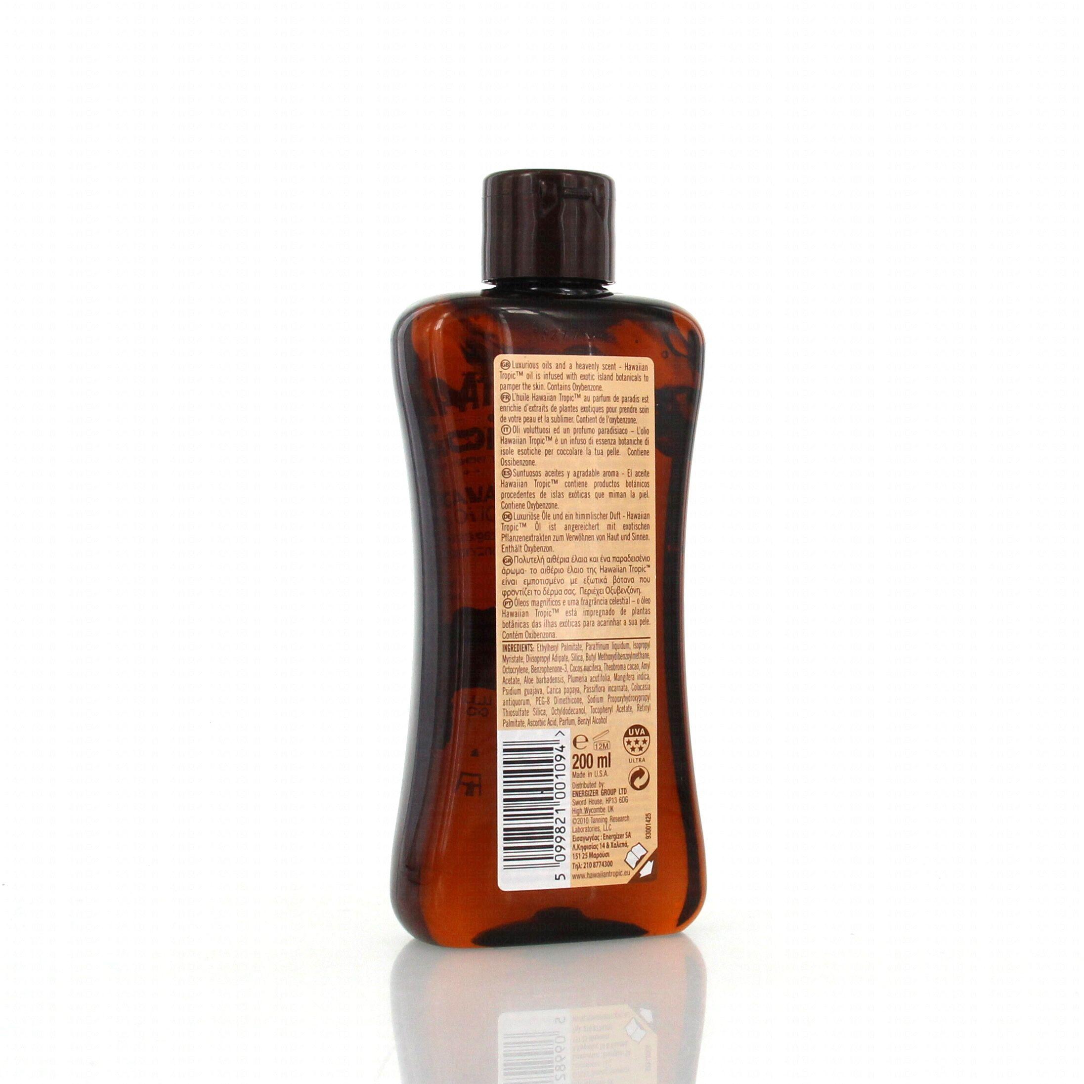 hawaiian tropic huile de bronzage spf4 flacon 200ml parapharmacie en ligne prado mermoz. Black Bedroom Furniture Sets. Home Design Ideas