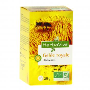 HERBA VIVA Gelée royale bio pot 25g - Illustration n°1