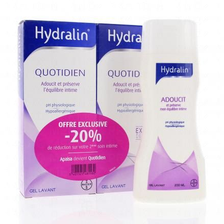 HYDRALIN Quotiodien lot de 2 flacons de 200ml