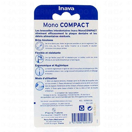 INAVA Brossettes interdentaires ISO4 larges 1.5mm pack de 4 - Illustration n°2
